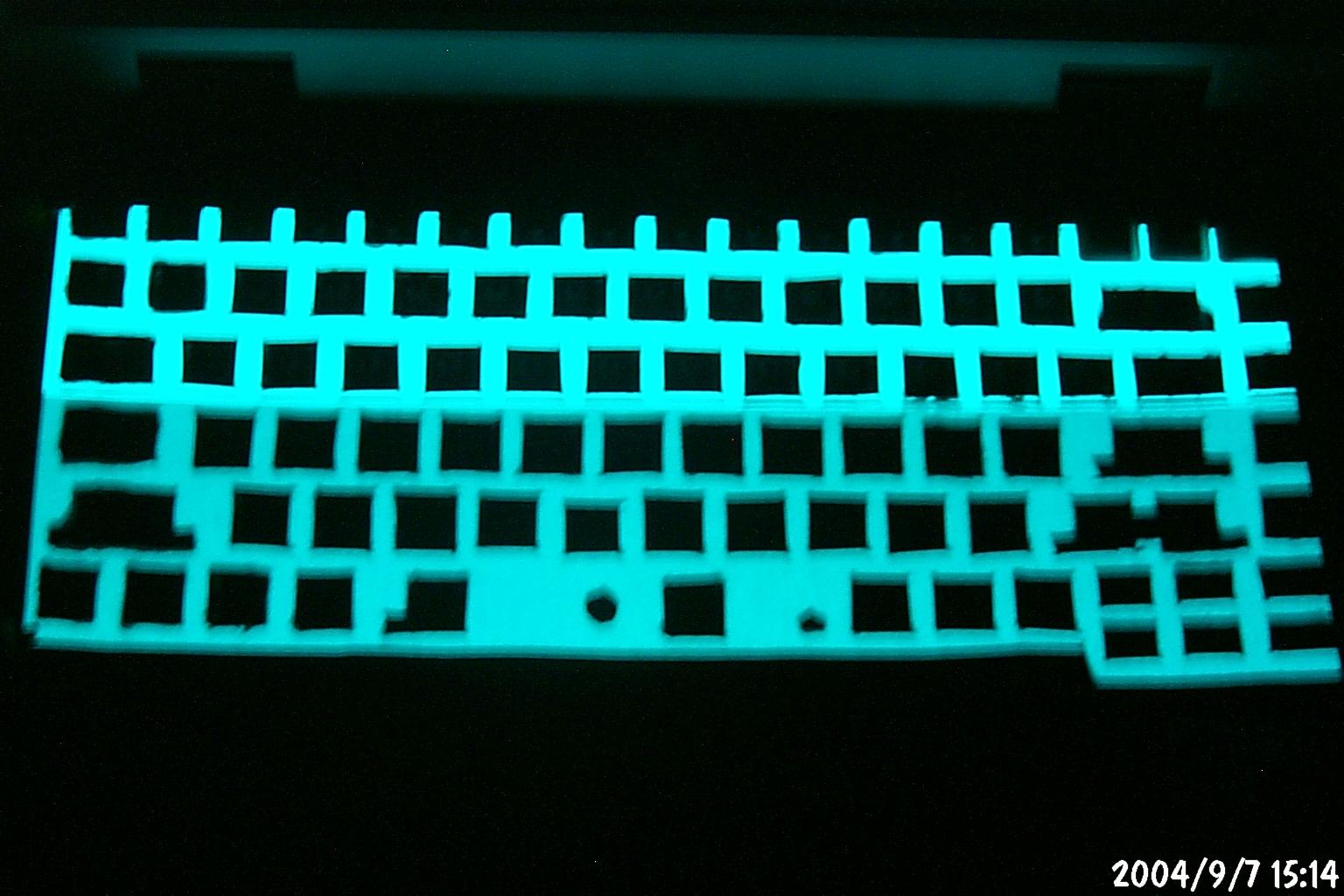 Asus M6Ne ElectroLuminescent Keyboard Experiment
